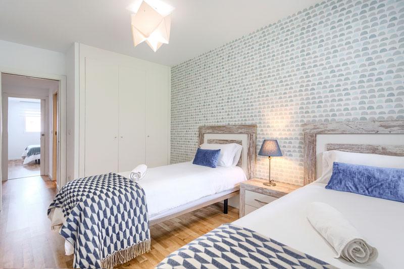 azul apartamento turistico altea dormitorio camas individuales