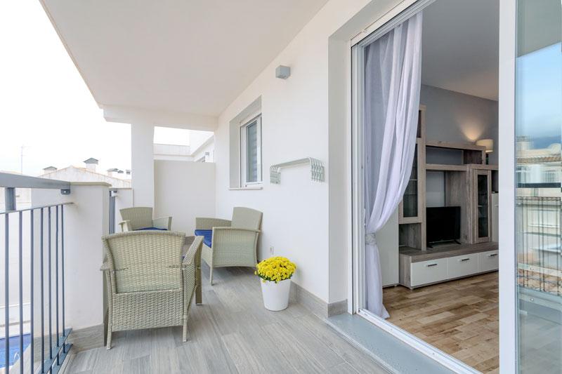 azul apartamento turistico altea terraza